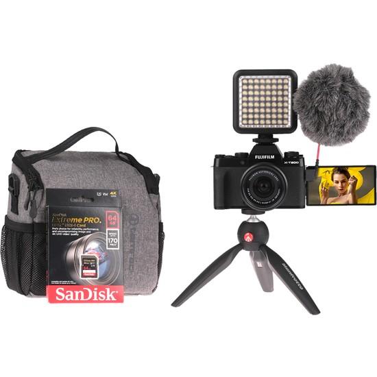 Fujifilm X-T200 Siyah + XC15-45MM Vlogger Hazır Kit