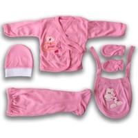 Burtaç Baby %100 Pamuk 5 Parça Zıbın Takımı