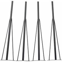 Tanraf Dekoratif Masa Ayağı Siyah - 4 Adet - 1 Takım 75 cm
