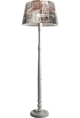 Ağaç Ustası Torinio Torna Bacak Tripod Lambader Abajur Avize Aydınlatma Ahşap Beyaz Ağaç Country Dekor Lamba Aplik Masif Doğal