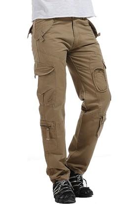 Aprillanie İlkbahar Yaz Askeri Kargo Pantolon Kemersiz (Yurt Dışından)