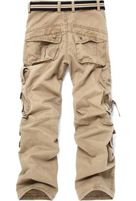 Aprillanie Askeri Dış Mekan Yürüyüş Dağ Uzun Pantolon Kemersiz (Yurt Dışından)