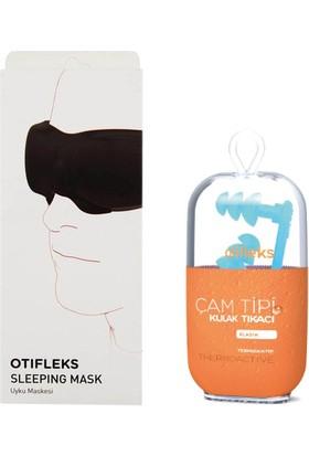 Otifleks Gürültülü Ortamlar, Yüzme,duş Için Çam Tipi Kulak Tıkacı + Ayarlanabilir 3D Uyku Maskesi
