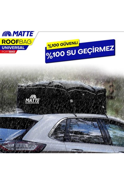 Matte Yeni Nesil Port Bagaj, Araç Üstü Tavan Çantası