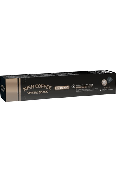 Nish Nesspresso Uyumlu Kapsül Kahve 8 Italy 10'lu