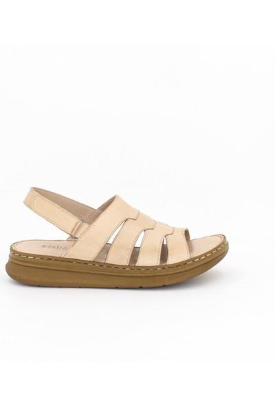 Tarçın Kadın Deri Sandalet TRC59-0015