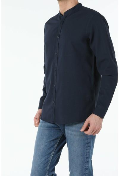 Colin's Lacivert Regular Fit Hakim Erkek Uzun Kol Gömlek