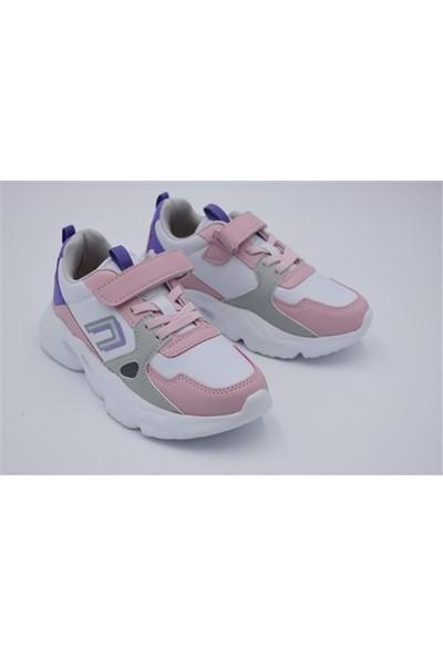 Cool Sonic Flt Yüksek Taban Çocuk Spor Ayakkabı - Pudra - 33