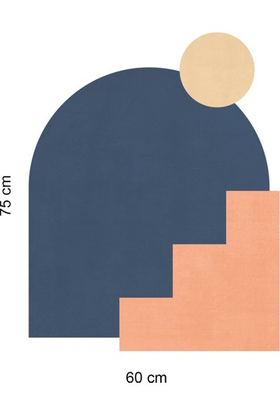 Sim Tasarım - SIM162- Geometrik Bohem Mimari Duvar Sticker Seti