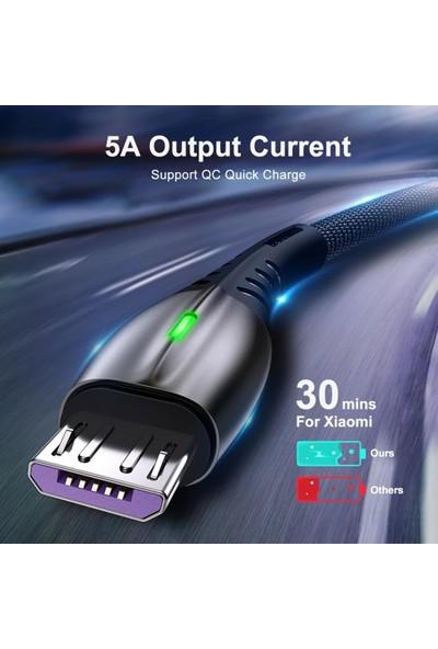 Judas C5 Çoklu Şarj Adaptörü + 5A Micro USB Şarj Kablosu - 2mt