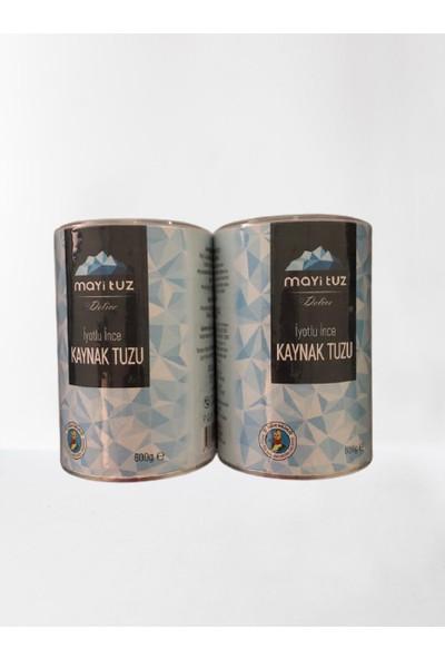 Mayi Tuz Mayi Doğal Tuz Öğütülmüş Sofra Tuzu 600 gr X2