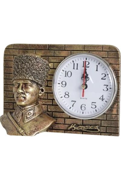7/24 Hediye Ofis Makam Odası Atatürk Biblo Saat Masa Saat