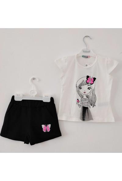 Paty Kids Kız Çocuk Şort-Tişört Takım