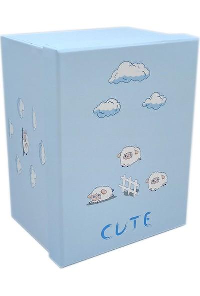 Ambalajist Bebek Kutusu Mavi Kuzular 3 No Hediyelik Kutu