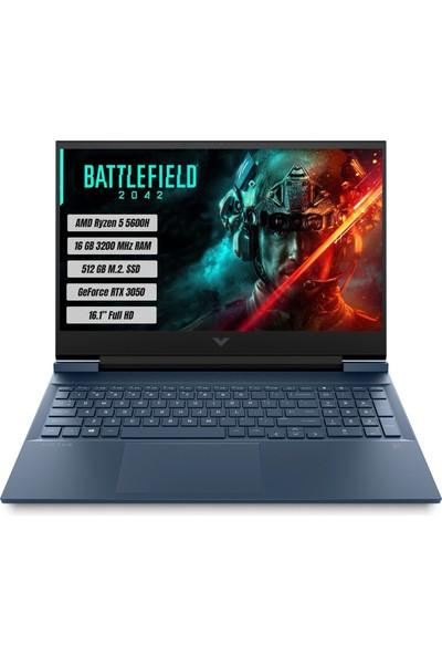 "HP Victus 16-E0004NT AMD Ryzen 5 5600H 16GB 512GB SSD RTX 3050 Freedos 16.1"" FHD Taşınabilir Bilgisayar 4H0L3EA"