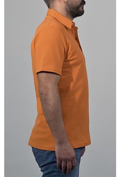 Şensel Polo Yaka Tişört, Turuncu (136E1005) T-Shirt, Tshirt, Kısa Kollu