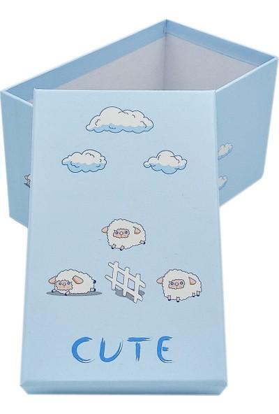 Ambalajist Bebek Kutusu Mavi Kuzular 1 No Hediyelik Kutu