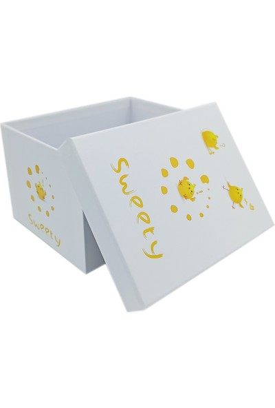 Ambalajist Bebek Kutusu Sarı Civcivler 3 No Hediyelik Kutu
