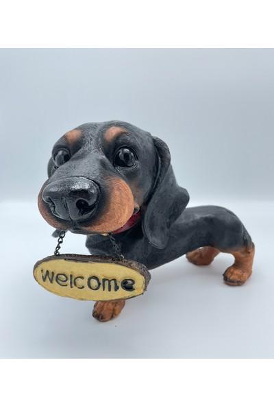 Hediye Sahibi Dekoratif Büyük Boy Köpek Biblo 27CM*20CM