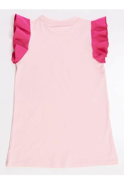 Mushi Pembe Kelebek Kız Elbise