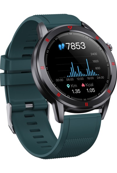 C4U C1 Akıllı Saat - IP68 - Yeşil - (Android ve iPhone Uyumlu)