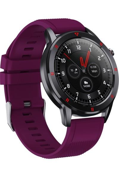 C4U C1 Akıllı Saat - IP68 - Mor - (Android ve iPhone Uyumlu)