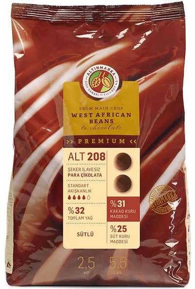 Altınmarka Şeker İlavesiz Sütlü Mini Para Çikolata ALT-208 2,5 kg