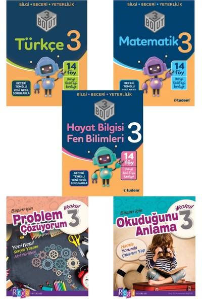 Tudem 3. Sınıf Matematik+Türkçe +Hayat Fen Konu Anlatımlı +Okuduğunu Anlama +Problem