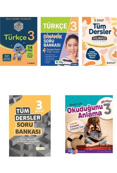 Tudem 3. Sınıf Türkçe Konu+Soru+Deneme+Tüm Dersler Soru +Okuduğunu Anlama Seti