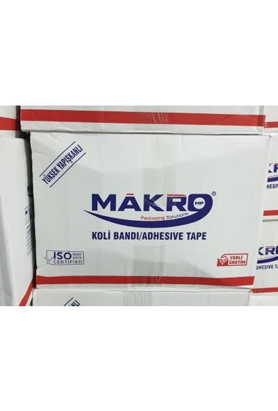 Makro Şeffaf Koli Bandı Hotmelt 45 mm x 100 mt 6 Adet