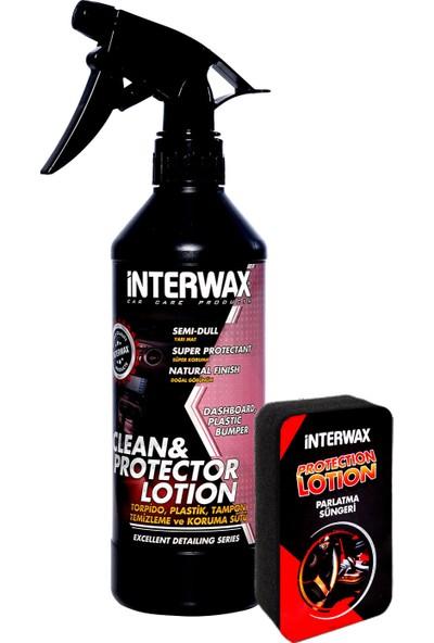 Interwax Torpido Temizleme Ve Koruma Sütü 500 ML + Uygulama Süngeri