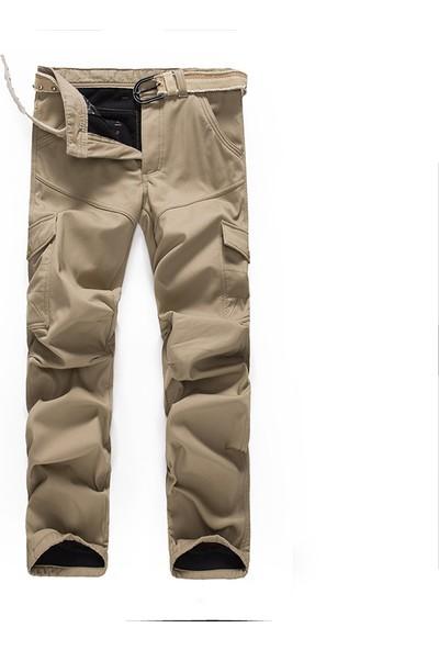Aprillanie Haki Kemersiz - Kış Erkek Askeri Pantolon (Yurt Dışından)