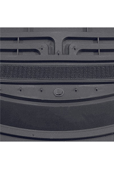 Vavka 2000 Model Toyota Corolla Için 4d Havuzlu Tip Universal Paspas - Gri Kromlu