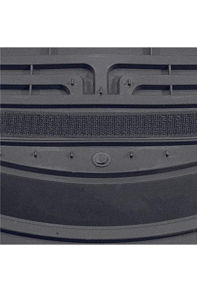 Vavka 2021 Model Nissan Navara Için 4d Havuzlu Tip Universal Paspas - Gri Kromlu