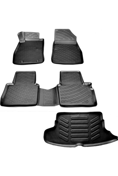 Nissan Juke 3D Havuzlu Paspas + 3D Bagaj Havuzu 2010-2014 Arası-Friemats Marka