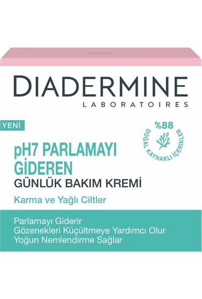 Diadermine pH7 Parlamayı Gideren Günlük Bakım Kremi (Karma Ve Yağlı Ciltler İçin) 50 ml