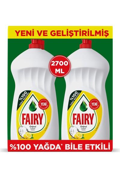 Fairy 2700 ml ( 2 x 1350 ml) Sıvı Bulaşık Deterjanı Limon Fırsat Paketi