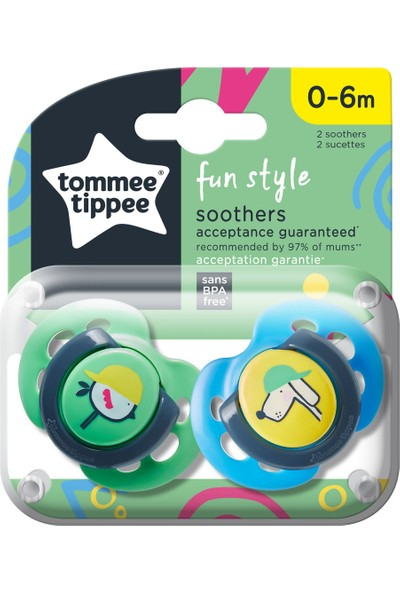 Tommee Tippee 2x Fun Emzik 0-6 Ay Yeşil