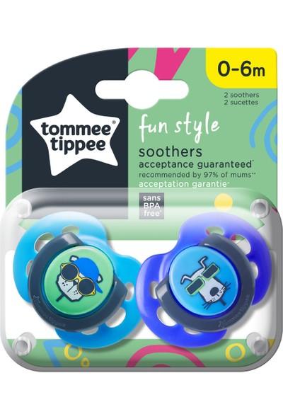 Tommee Tippee 2x Fun Emzik 0-6 Ay Lacivert