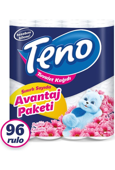 Teno Avantaj Paket Parfümlü Tuvalet Kağıdı 96 Rulo