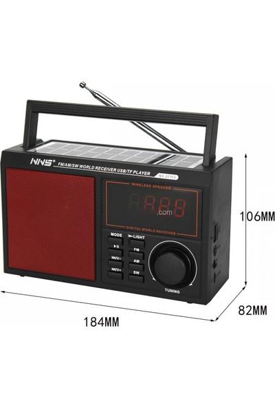 Hobimtek NS-2036S Solar Bluetooth Radyo Güneş Enerjili Gece Lambalı 19 cm