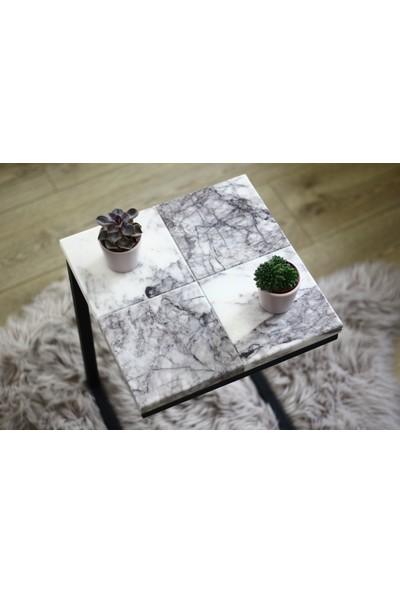 Marble Aboli Mermer Yan Sehpa