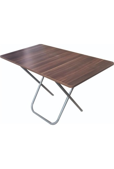 Lovera Katlanır Pratik Çok Amaçlı Masa Kamp-Mutfak- Masası Ceviz 60*110 cm