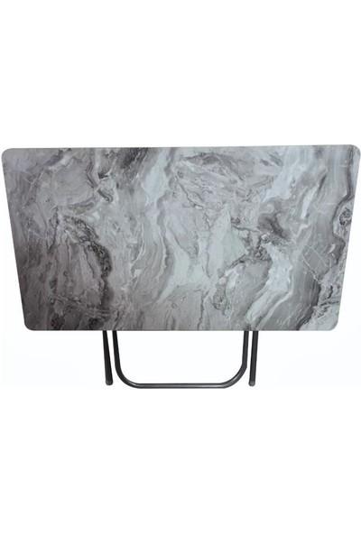 Lovera Katlanır Pratik Çok Amaçlı Masa Kamp-Mutfak- Masası Mocca 60*110 cm