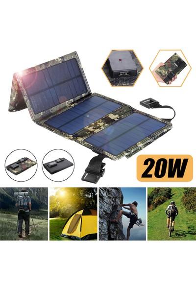 Gahome Açık USB Güneş Paneli Çantası Taşınabilir Güneş Enerjisi (Yurt Dışından)