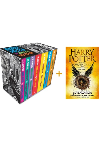 Harry Potter Boxed Set: The Complete Collection Adult Paperback + Harry Potter And The Cursed Child - J. K. Rowling