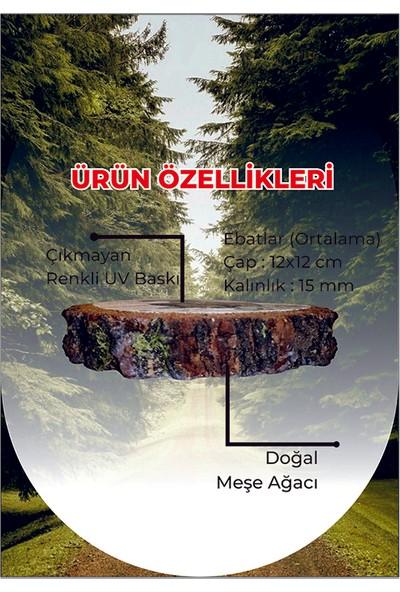 Wood Doğal Meşe Bardak Altlığı Istanbul 1