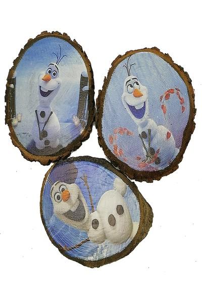 Wood Doğal Meşe Bardak Altlığı Olaf Serisi