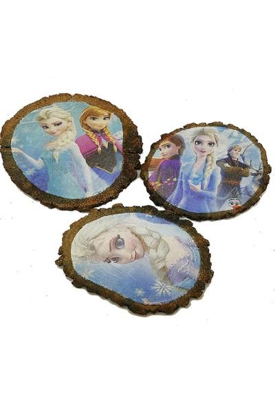 Wood Doğal Meşe Bardak Altlığı Elsa Serisi