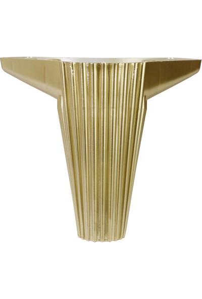 Nobel Wetra Mobilya Kanepe Masa Sehpa Ayağı Baza Ayak 12 cm Altın (4 Adet)